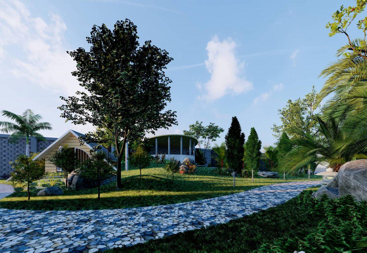 Cảnh quan sân vườn của Anh Đông tại Biên Hòa - Đồng Nai