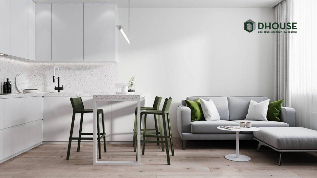 Mẫu nội thất chung cư 60m2 | Style minimalist